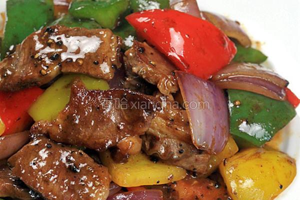黑椒炒西冷牛肉的做法