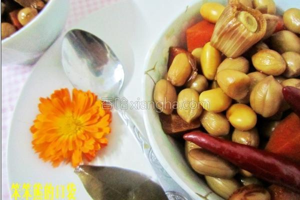 卤花生黄豆的做法