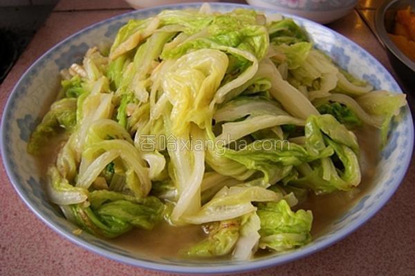 蒜香白菜叶的做法