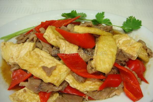 豆腐炒肉片的做法