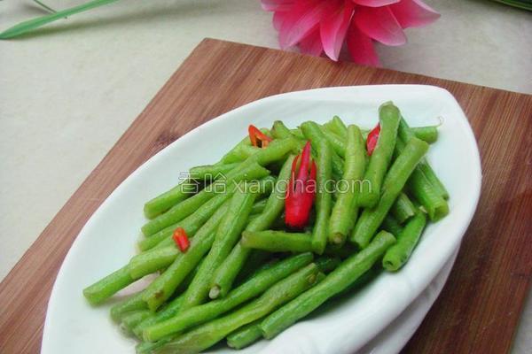 炒豇豆的做法