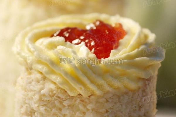 椰蓉夹心小蛋糕的做法