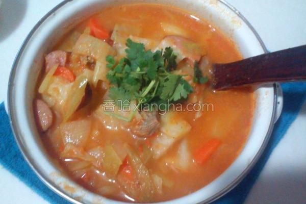 俄式红汤的做法
