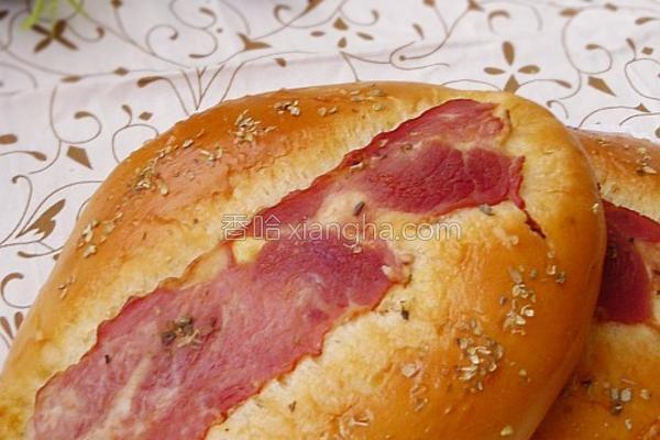 培根批萨草面包的做法
