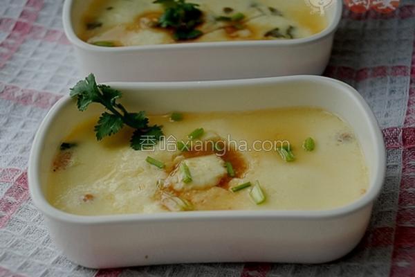 海米酸菜蒸蛋羹的做法