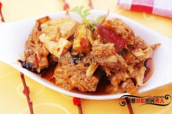 安康鱼炖豆腐的做法