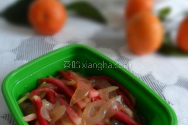 萝卜拌海蜇的做法