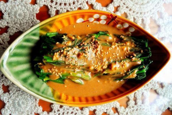 家常麻酱拌菠菜的做法