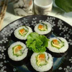 生菜沙拉寿司的做法[图]