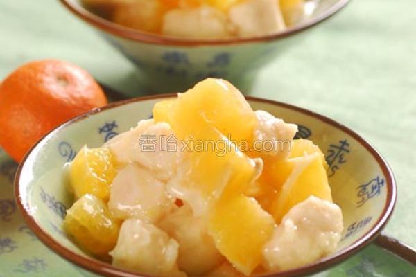 蜜橘鸡丁的做法