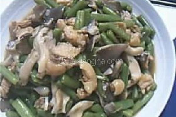 芸豆平菇鸡块的做法
