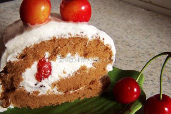 樱桃奶油蛋糕卷的做法