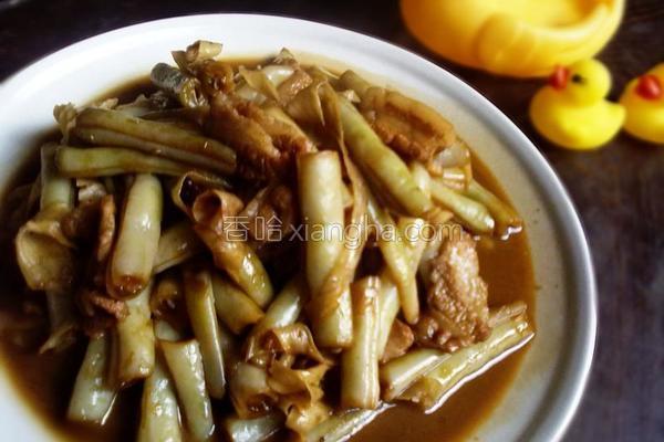 五花肉炖芸豆的做法