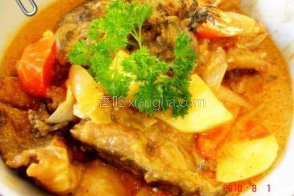咖喱三文鱼头的做法