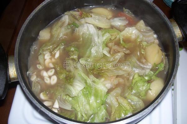 老汤涮生菜的做法