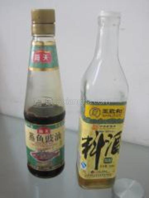 海天豉油、王致和料酒。