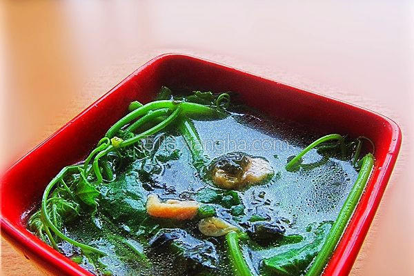 龙须菜清汤的做法