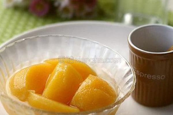 糖水黄桃的做法