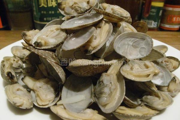 清煮花蛤的做法