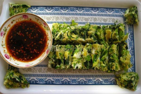 蘸水菠菜糕的做法