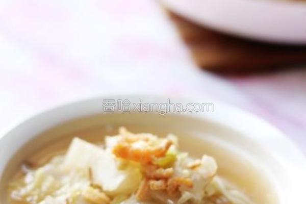 虾干炖白菜的做法