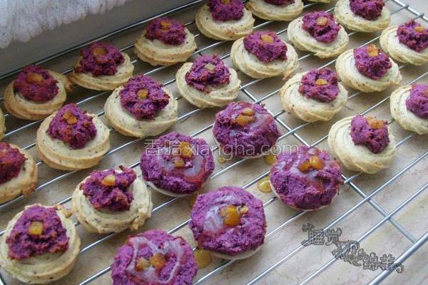 紫薯曲奇成品图