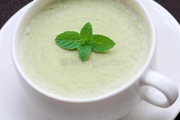 青豆奶油浓汤的做法