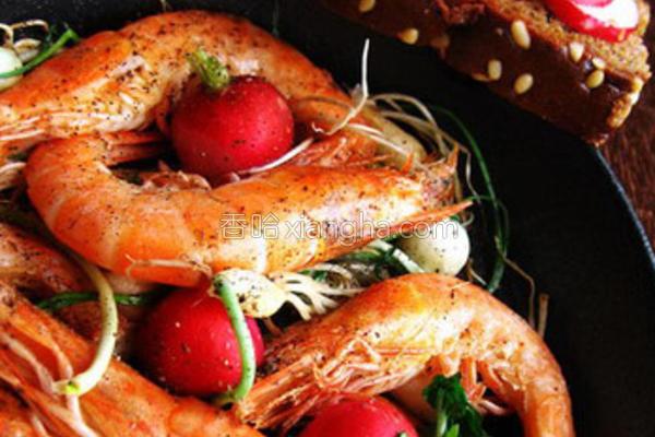 香蒜干锅虾的做法