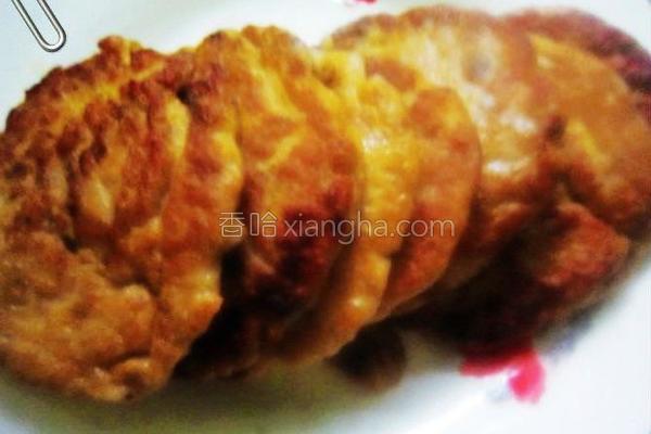 煎鱼饼成品图