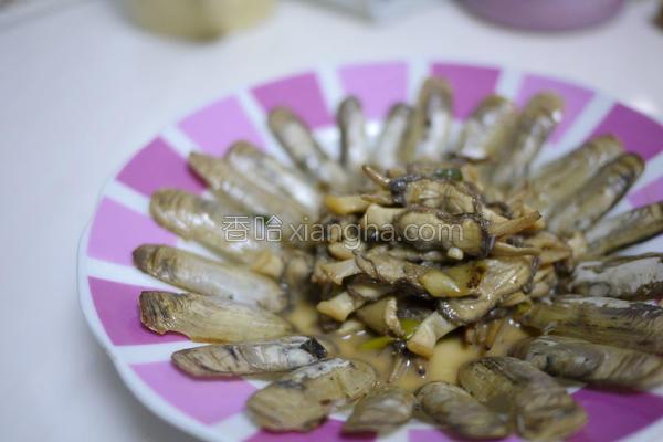 葱姜炒蚬子的做法