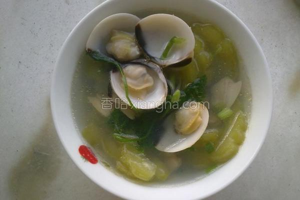 蛤蜊苦瓜汤的做法