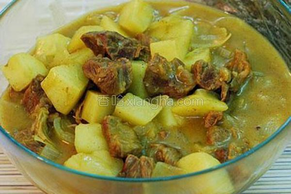 椰香咖喱牛腩的做法