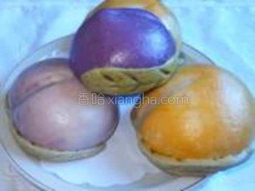 蒸熟的寿桃