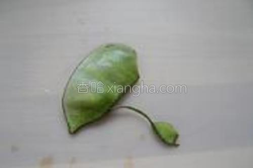先把扁豆从两头开始撕下连带豆筋一起撕下。