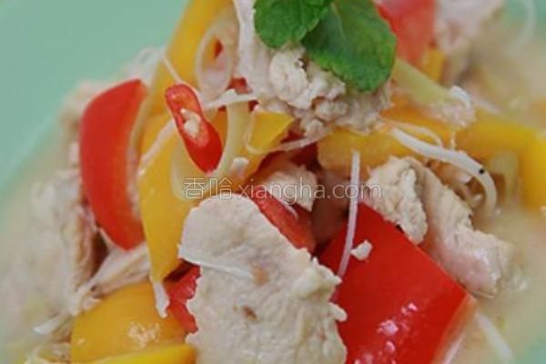 泰式椰汁鸡肉的做法