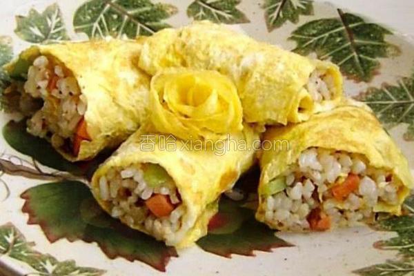 米饭蛋卷的做法