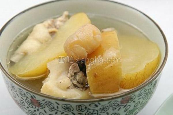 苹果川贝鸡汤的做法
