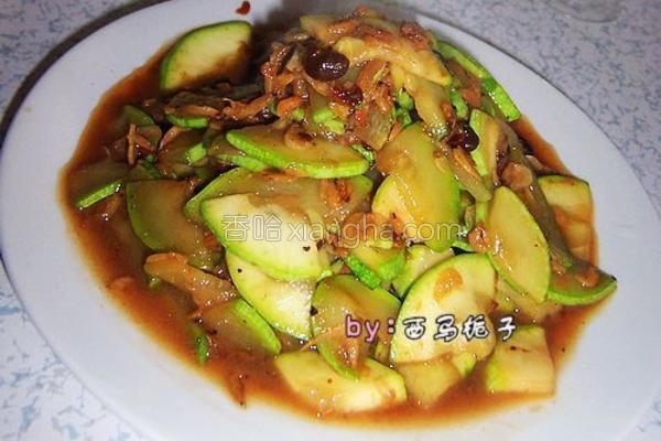 虾皮豆豉西葫芦的做法