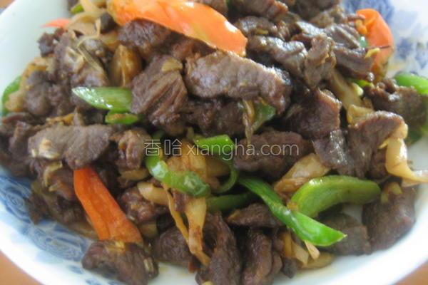 青椒榨菜炒牛肉