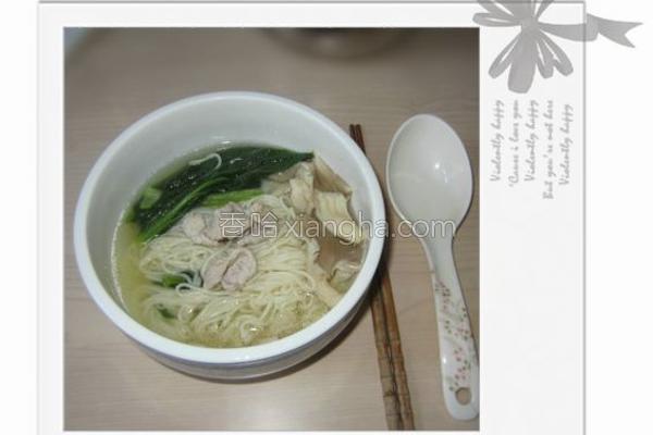 肉片汤面成品图