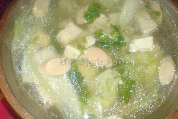 白菜豆腐清汤的做法