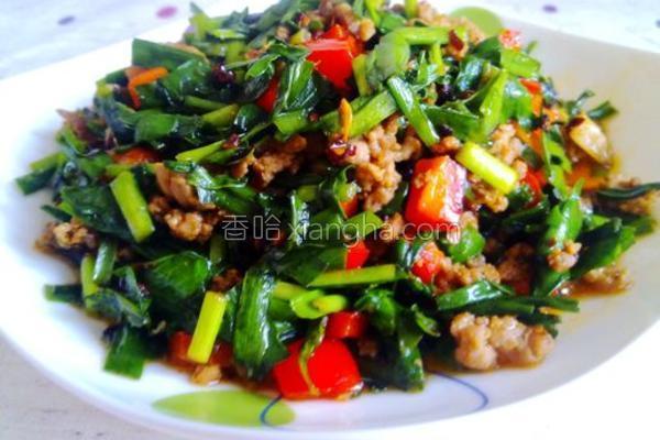 肉末炒韭菜的做法
