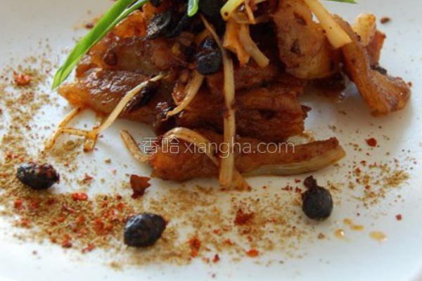 豆豉酱烹羊板筋的做法