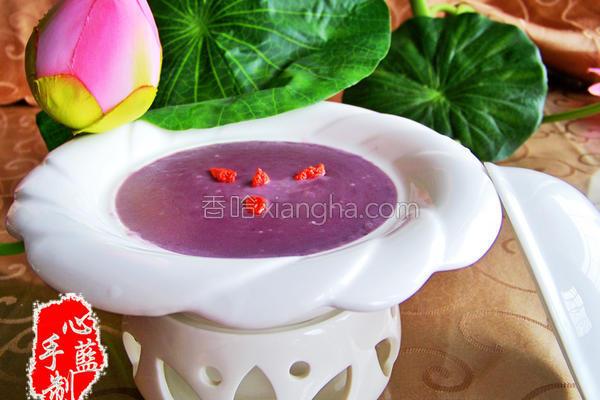 奶香紫薯泥的做法
