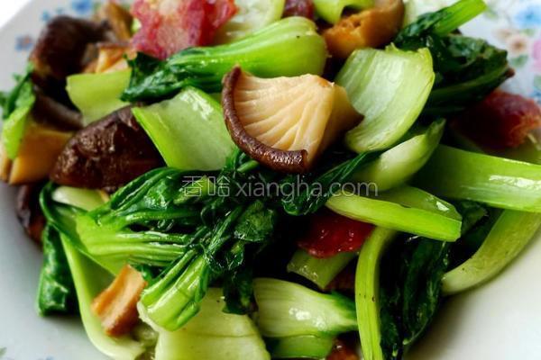 腊肠香菇油菜