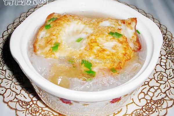 荷包蛋粉丝汤的做法