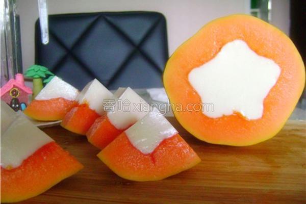 木瓜牛奶成品图
