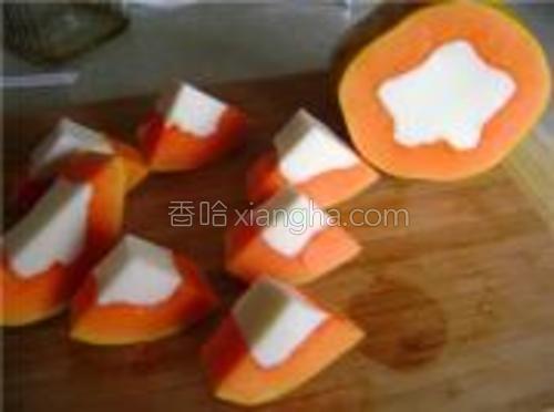 然后切片,切成便于食用的大小