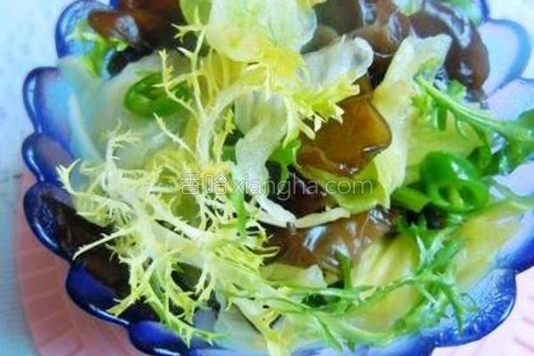 生菜拌黑木耳