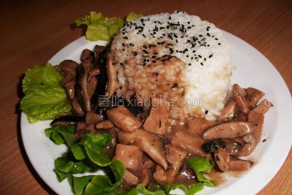 照烧香菇肉饭的做法